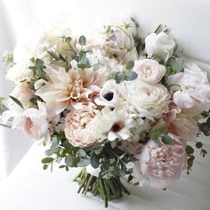 Happy wedding day, Nicole and Chris! Floral Bouquets, Wedding Bouquets, Wedding Flowers, Floral Wreath, Happy Wedding Day, Wedding Weekend, Blush Pink Weddings, Brides And Bridesmaids, Beautiful Bride