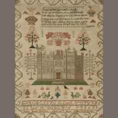 An early 19th century sampler by Janet Young, April 22nd 1828