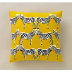 Zebra Citrine Pillow,$90.00
