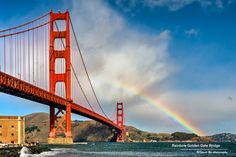 Rainbow -- Golden Gate Bridge by David Yu on 500px