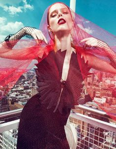 Coco Rocha Wows in Fall Looks for Harpers Bazaar China Cover Story