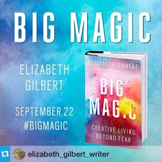 Our beloved Liz Gilbert has a new book coming out! How will she inspire us next?? We can't wait for her to share Big Magic! (Did you know she lives in #Frenchtown #NJ?! We love her so.) #lizgilbert #inspiration #eatpraylove #onward #creativity #elizabethgilbert