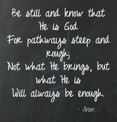 Will always be enough...