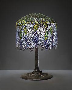 TIFFANY STUDIOS  'Wisteria' table lamp, model no. 342, circa 1905