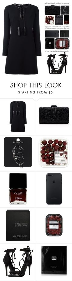 """""""#PolyPresents: Party Dresses"""" by one-styles ❤ liked on Polyvore featuring Barbara Bui, Tadashi Shoji, Topshop, NARS Cosmetics, Butter London, éS, Ex Voto Paris, Schutz, Erno Laszlo and contestentry"""