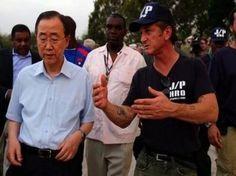Sean Penn founder of J/P Haitian Relief Organization with Ban Ki-moon, Secretary General of the United Nations.  Following the earthquake of 2012, J/P HRO began working to make an impact on Haiti.