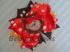 Embroidered Felt Zoo Lion Spikey Boutique Style Hair Bow-Going To The Zoo. $8.99 USD, via Etsy.