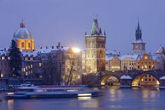 Il neige sur Prague