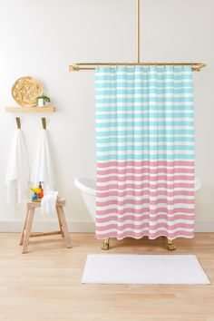 """Make your bathroom truly your own with a perfect-for-you shower curtain Soft 100% polyester for a smooth, even drape Vivid, full color print on the front, with a translucent white reverse side 71 x 74"""" (180 x 188 cm) size fits most standard showers and tubs 12 stitched button holes (rings not included) Liner not included Machine wash cold"""