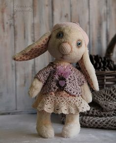 Купить Зайка. Куда уходит детство? - бежевый, зайцы, заяц игрушка, заяц текстильный