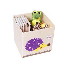 Cube storage box - hedgehog Fabric Storage Boxes, Toy Storage Boxes, Kids Storage, Cube Storage, Storage Baskets, Cube Organizer, Book Storage, Storage Ideas, Kallax Shelving Unit