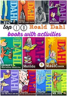 Dahl Book List Top 10 Roald Dahl books for kids with go-along activities.Top 10 Roald Dahl books for kids with go-along activities. Roald Dahl Books List, Roald Dahl Day, Roald Dahl Activities, Literacy Activities, Kids Reading, Teaching Reading, Primary Teaching, Reading Books, Guided Reading