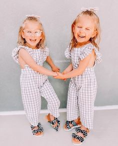 Isn't it life is just two-riffic with twins? Double the love, double the fun 👯♂️ Twins, Jumpsuit, Fun, Life, Shopping, Dresses, Fashion, Overalls, Vestidos
