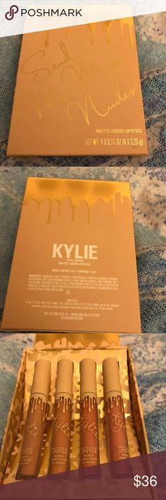 Kylie Cosmetics Send Me Nudes Vacation Collection Like new - these were ONLY swatched and not personally used. Photos show how the applicators and bottles look. These are 100% authentic - check my ratings. Unfortunately I bought these and never reached for them after swatching. Reasonable offers considered! ☺ no trades or holds Kylie Cosmetics Makeup Lipstick