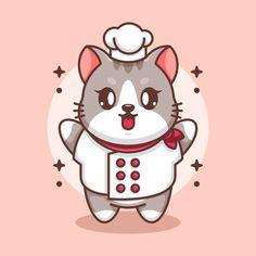 Cute Baby Cats, Cute Babies, Cute Cat Sleeping, Astronaut Cartoon, Running Cartoon, Rainbow Cartoon, Flying Cat, Mascot Design, Chefs
