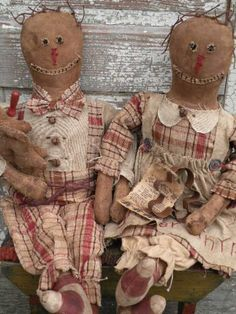 Christmas Primitive Gingerbread Dolls-SPPO Prim Gingers $0.00