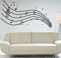 For Landre's music themed bedroom - Buy Giant Music Wall Graphic | Music Media | Signs and Posters | -