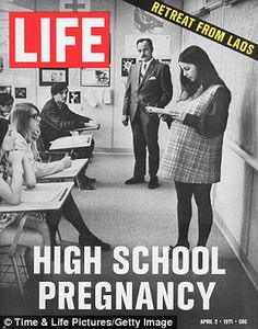 Turning point: This 1971 LIFE cover story on teen moms showed how attitudes to the issue were changing
