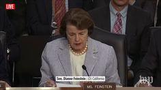 Dianne Feinstein | Live: Former FBI Director James Comey Testifies Before Congress (2017 broadcast) via Washington Post (YouTube channel)