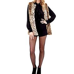 JJ Store Womens Faux Fur Vest Coat Sleeveless Waistcoat Leopard Print Outwear ** You can find more details by visiting the image link.