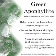 Green Apophyllite crystal meaning