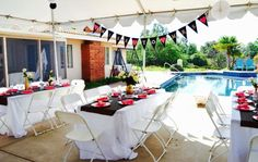 Valley Center bridal shower with the classic black/gold/pink decor!