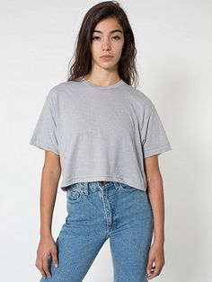 Poly-Cotton Form Fit Crop Tee | American Apparel
