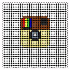 Instagram Perler Bead Pattern | Bead Sprites | Misc Fuse Bead Patterns