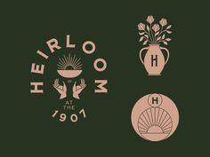 Vintage Graphic Design Heirloom logo and branding assets City Branding, Logo Branding, Restaurant Branding, Corporate Branding, Corporate Design, Restaurant Quotes, Restaurant Layout, Restaurant Seating, Restaurant Design