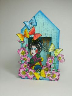 3D niche made by Erica Evans using #paperartsystamps