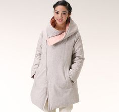Wool Down Jacket Hooded Warm Down Jacket by ttlovewomenclothing