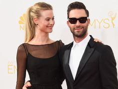 Pin for Later: Which 2014 Newlyweds Are Your Favourite? Adam Levine and Behati Prinsloo