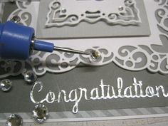 How to make a Congratulations Card with Spellbinders Label 42 dies.