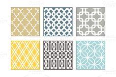 Patterns ~ Trellis Patterns by The Pixelista ~ Creative Market
