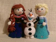 Frozen's Anna Elsa and Olaf ... Crochet Amigurumi