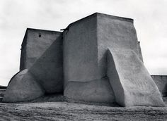 Ansel Adams, Saint Francis Church, Ranchos de Taos, New Mexico, c.1929