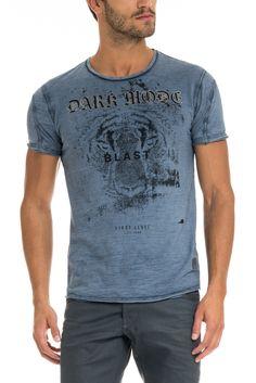 T-shirt 1st Level com print frontal   117709 Azul   Salsa