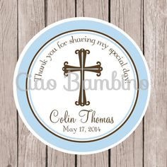 PRINTABLE Baptism Favor Tags / Favor Tags for by ciaobambino