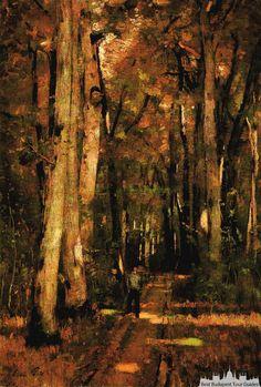 László Paál: Forest Road near Fontainebleau