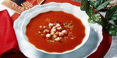 Gazpacho (španjolska hladna juha s povrćem) — Coolinarika Gazpacho, Chana Masala, Fish, Meat, Dinner, Ethnic Recipes, Design, Dining, Food Dinners