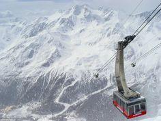 Cable lift of Val Senales, Alto Adige - Sudtirol.