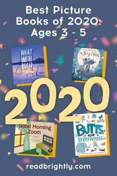 A crop of fantastic picture books were released in 2020, from both well-known authors and debuts. Check out some of our favorites and find a new book or two to read with your little one.