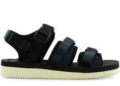 "SUICOKE GGA-V ""Navy"" Birkenstock Milano, Old Things, Navy, Sandals, Shoes, Fashion, Slide Sandals, Moda, Sandal"