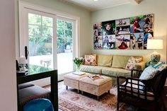 Colorful cottage eclectic family room - By: Stephanie Wiley Photography - Pasadena, California
