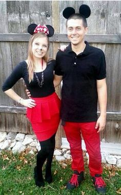 Minnie Mouse and Mickey Mouse DIY couples costumes.  sc 1 st  Pinterest & Life is a box of chocolates! : Halloween- cute couple costumes ...