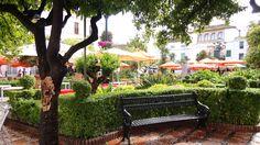 Spain. Marbella. Old City.  The Oranges Courtyard. ( Casco Antiguo, Patio de Los Naranjos )