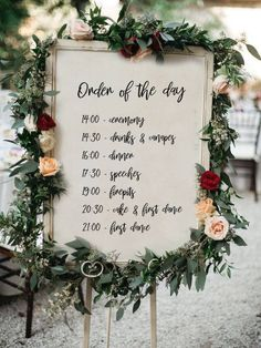 PERSONALISED Order of the day Wedding Sign, Printable Wedding Sign, Printable sign, Wedding decoration sign How gorgeous is this wedding sign? This is a great way for your guests to stay in the loop of all your fun planned wedding activities. Wedding Schedule, Wedding Day Timeline, Wedding Checklist Printable, Reception Timeline, Wedding Favors, Diy Wedding, Dream Wedding, Wedding Sign In Ideas, Wedding Program Sign
