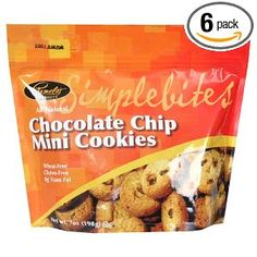 #10: Pamela's Products Simplebites Chocolate Chip Mini Cookies, 7-Ounce Pouches (Pack of 6)