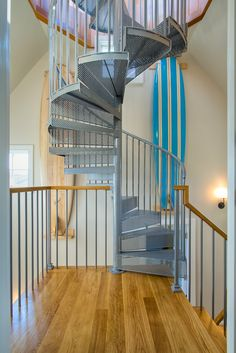Residential Spiral Stair To An Observation Deck   CT Staircase  Manufacturers, Spiral Staircases, Dream