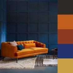 How to match colors at home   Consulente di immagine, Rossella Migliaccio New Living Room, Living Room Modern, Colorful Decor, Colorful Interiors, Complimentary Color Scheme, Orange Interior, Red Rooms, Room Interior Design, Rustic Design